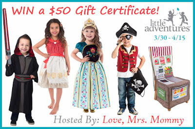 Enter the $50 Little Adventures Gift Certificate Giveaway! Ends 4/15