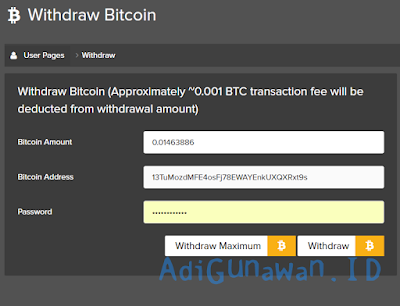 Cara withdraw di Bitcoin.com Cloud Mining Pool