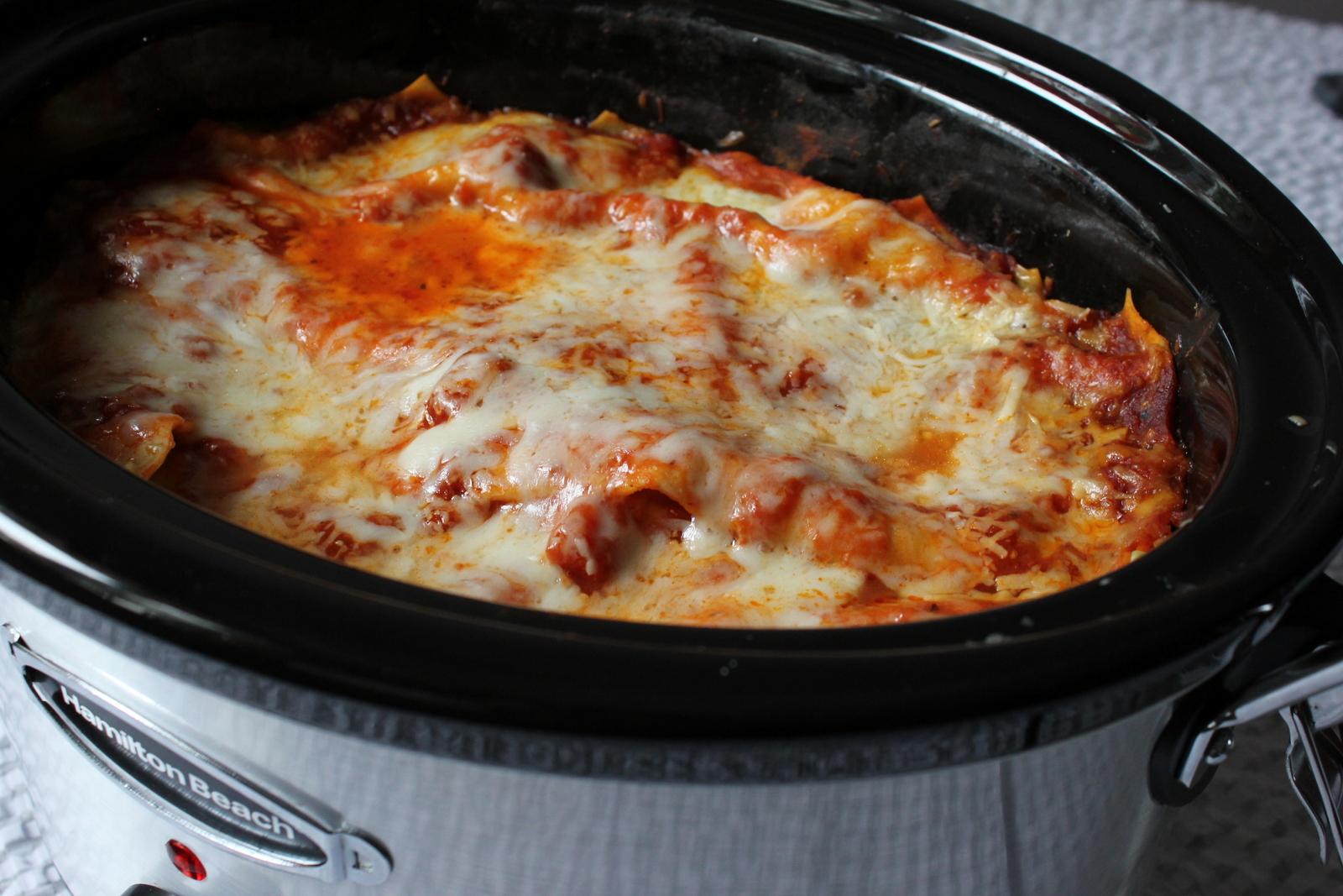 Delightful Slow Cooker / Crockpot Lasagna