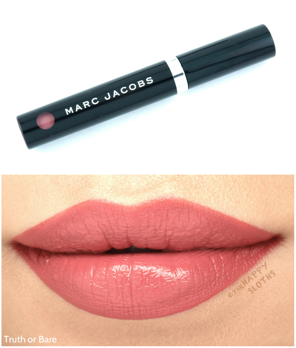 "Marc Jacobs Le Marc Liquid Lip Creme in ""Truth or Bare"": Review and Swatches"