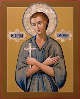 Σύγχρονη φορητή εικόνα του αγίου Ιωάννου  του ομολογητού, ρωσικής τεχνοτροπίας