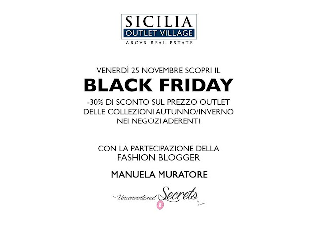 black friday al sicilia outlet village
