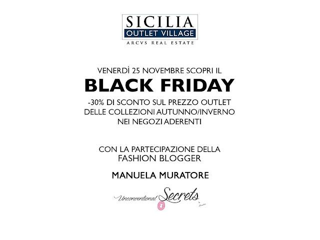 black friday al sicilia outlet village