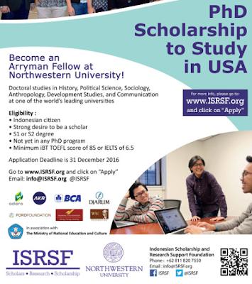 Beasiswa arryman fellows untuk Indonesia