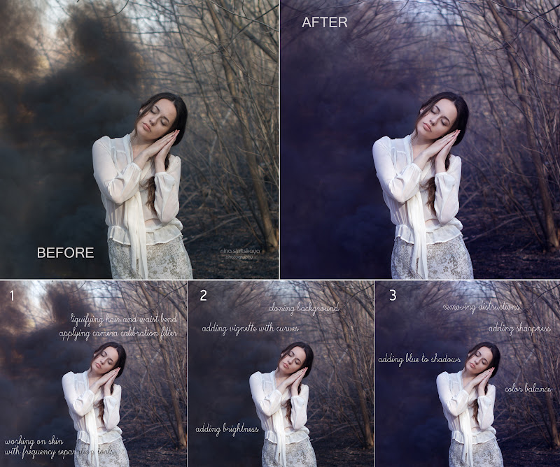 how I edit and retouch images with fairytale effect
