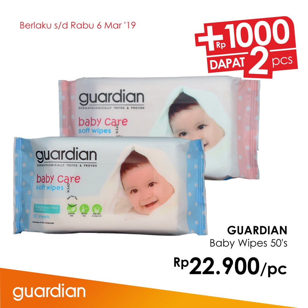 #Guardian - #Promo Best Exclusive Brands + 1 Ribu Dapat 2 Pcs (s.d 06 Maret 2019)