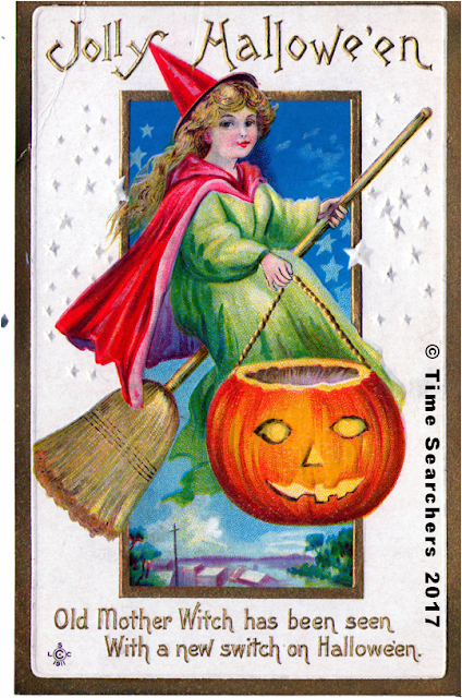 JOLLY HALLOWEEN FROM CIRCA 1910-THE GHOST OF HALLOWEEN PAST FROM THE TIME SEARCHERS