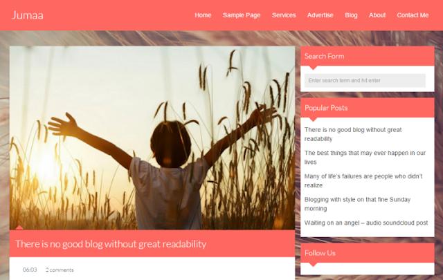 Jumaa - Personal Blogger Template