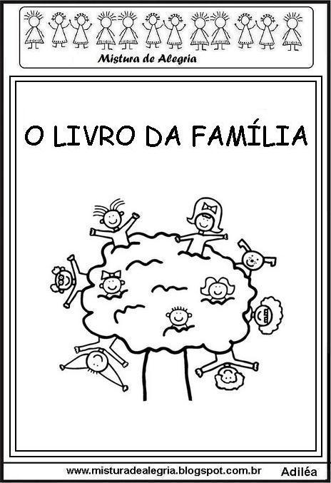 Livrinho Da Familia Para A Educacao Infantil Imprimir E Colorir