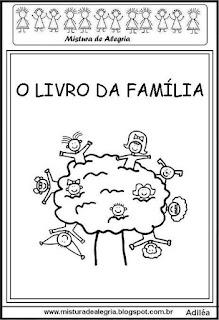Livrinho da família para colorir
