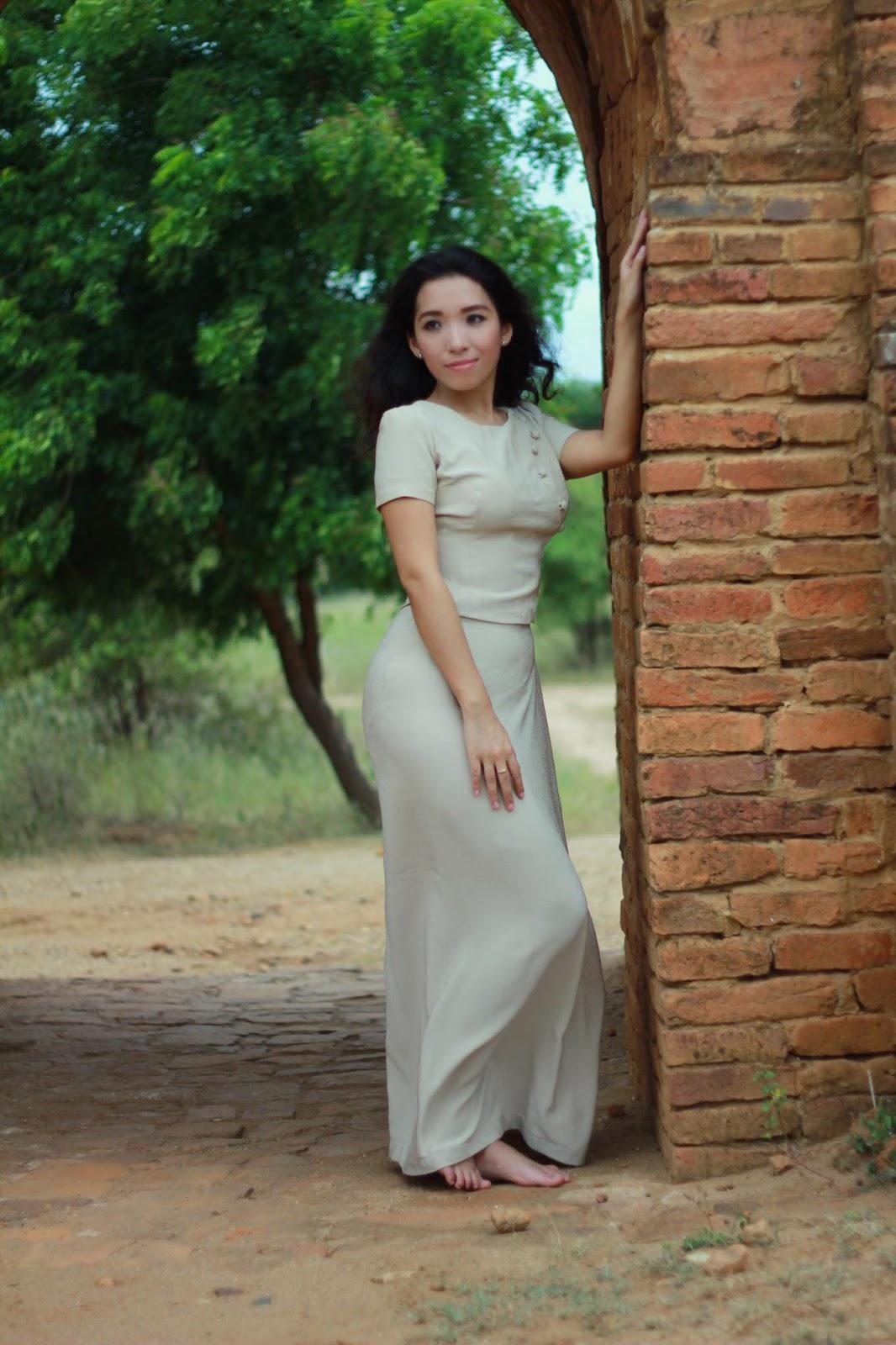 Myanmar Model Nang Mwe San In Bagan Photoshoot