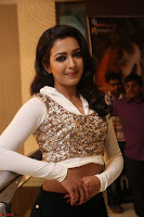 Catherine Tresa in a White Glittering Crop Top Black Leggings  Exclusive 005.JPG