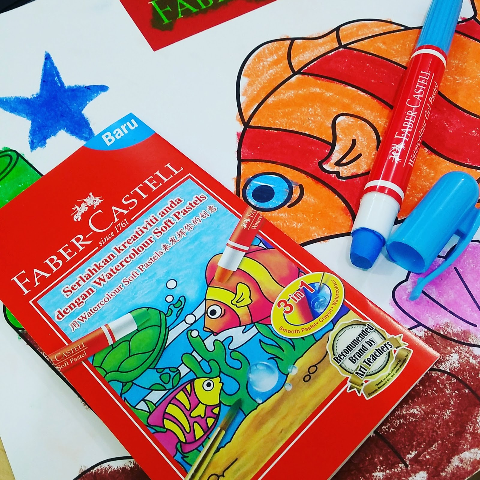 Faber Castell Watercolour Soft Pastels Malaysian Blogger