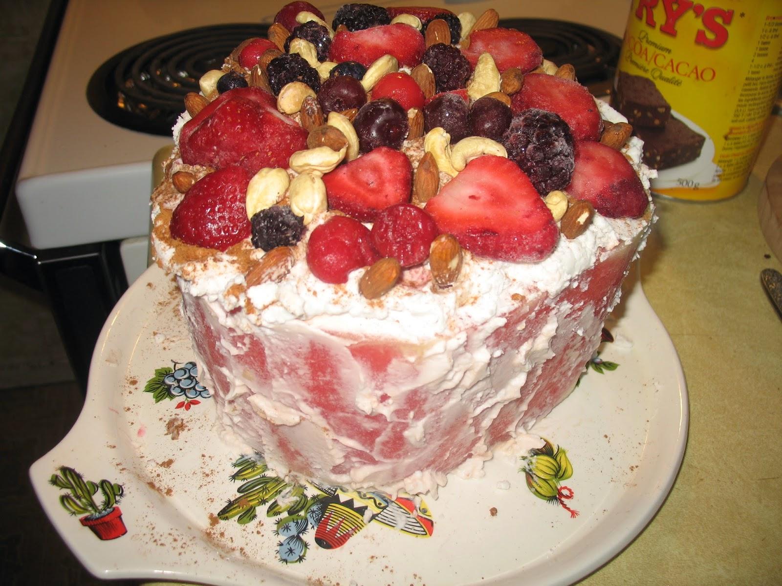 Healthy Life Ideas Watermelon Cake