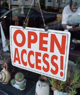 "A window sign that says ""Open Access"""