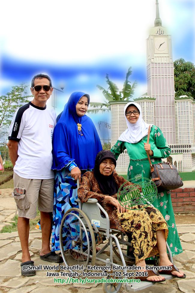 Keluarga Keturunan Mbah Cokrowinarno & Eyang Suryadi Berkunjung ke Small World Beautiful, Ketenger - Baturraden. 12 September 2016 bertepatan dengan Idul Adha (Bagian 01)