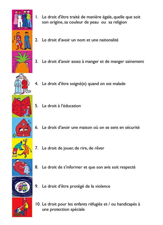 Préférence Escuelas Plurilingües Francés: Tu as des droits! AN76