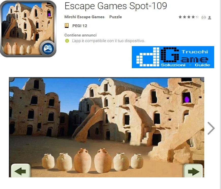 Soluzioni Escape Games Spot-109 di tutti i livelli | Walkthrough guide