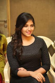 Anjali in Black Short Dress at Chitrangada Movie Success Meet ~  017.JPG