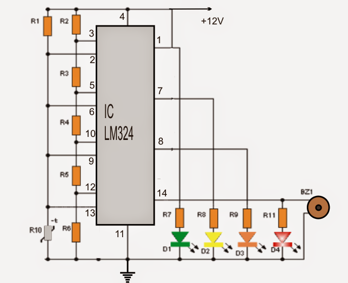 how to make a differential temperature detector controller circuit
