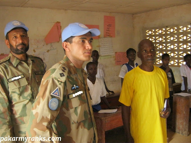 Pakistan Army Captain Officer And Soldier Serving In Africa During UN Peace Mission