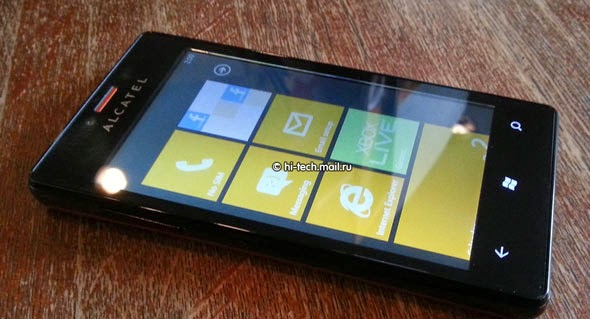 Alcatel One Touch View, Smartphone Windows Phone 7.8