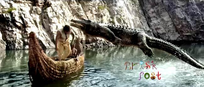 Flying crocodile attacks Hrithik Roshan in Mohenjo Daro VFX action scene