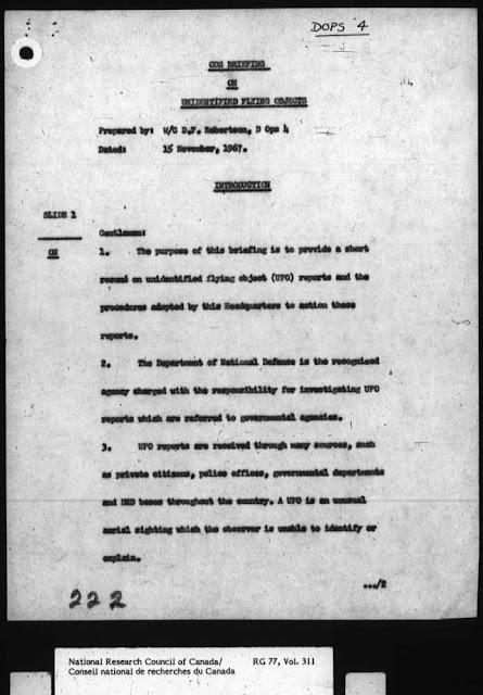 Nuevos documentos revelan el conocimiento del gobierno canadiense sobre los OVNIs