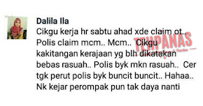 Thumbnail image for Cikgu Dalila Ila Hina Polis Makan Rasuah, Ditangkap Polis Serta Merta