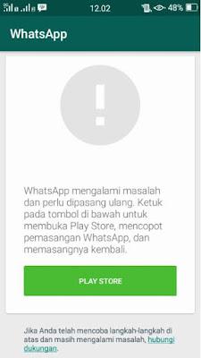Mengatasi WhatsApp Yang Tidak Bisa Dijalankan Setelah Diinstall