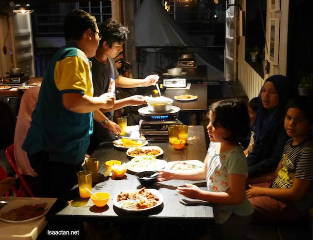 Happy family shot at ASAP Steamboat & Grill Puchong