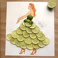 Arte con collage de comida - lima
