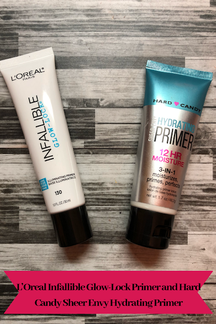 Two Drugstore Primers: I'Oreal Infallible Glow-Lock, and Hard Candy Sheer Envy Hydrating Primer