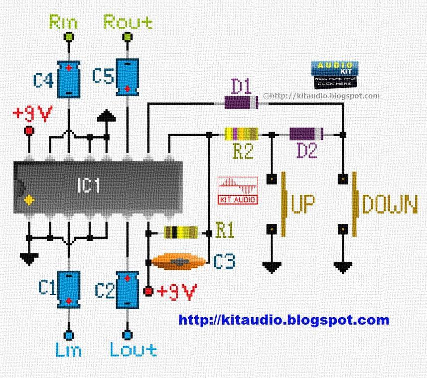 Audio kit: TC9153 Low cost stereo digital volume control