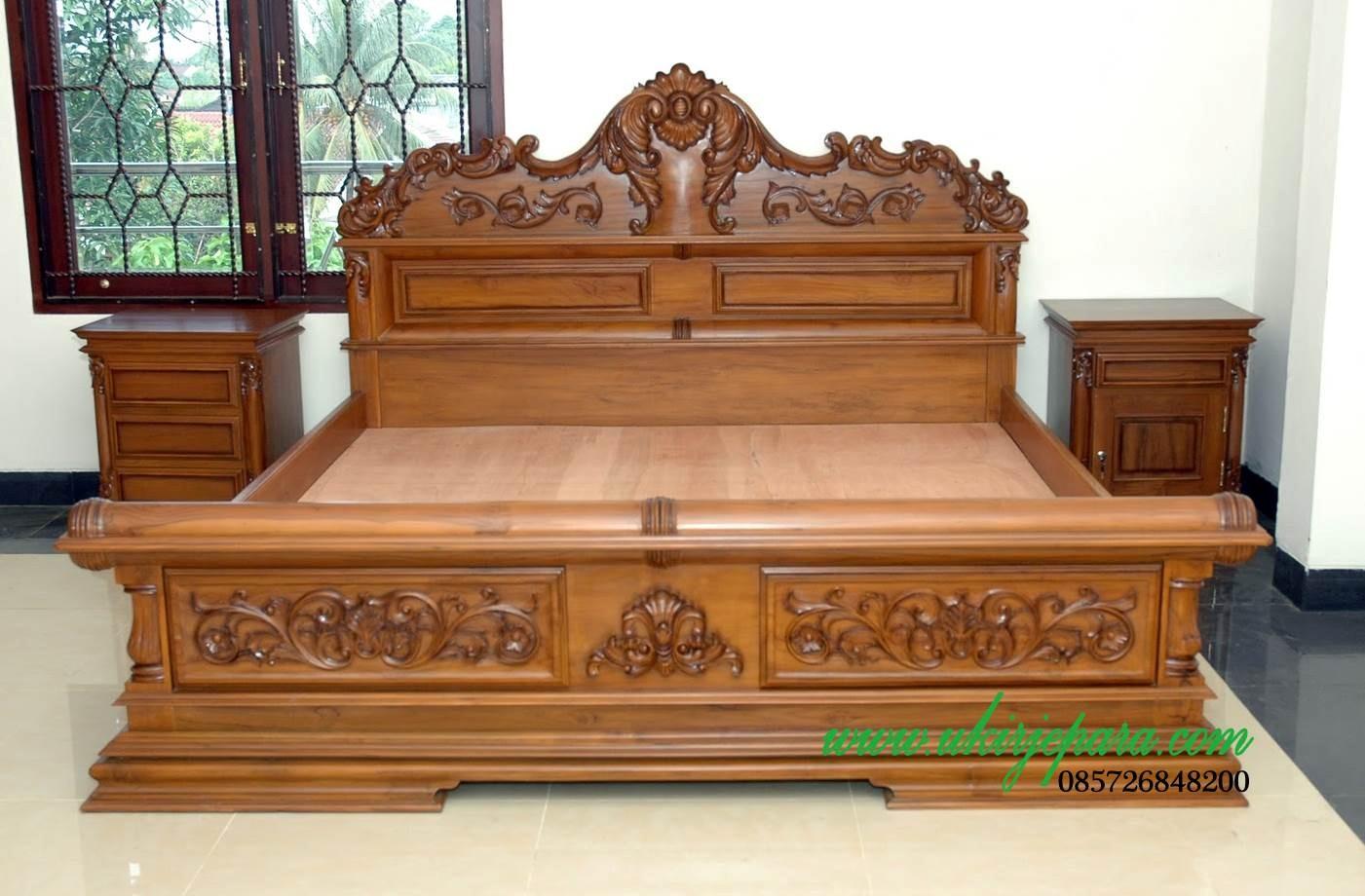 model tempat tidur ukir mewah 4