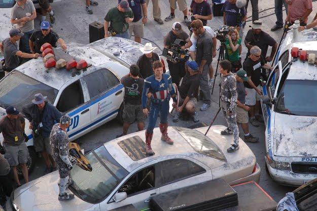 imagen del rodaje de Marvel: Los vengadores