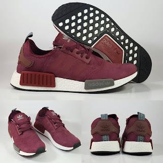 Adidas NMD Runner Maroon Sepatu Running Premium, jual adidas nmd , adidas nmd replika, replika premium, adidas nmd maroon, adidas nmd merah