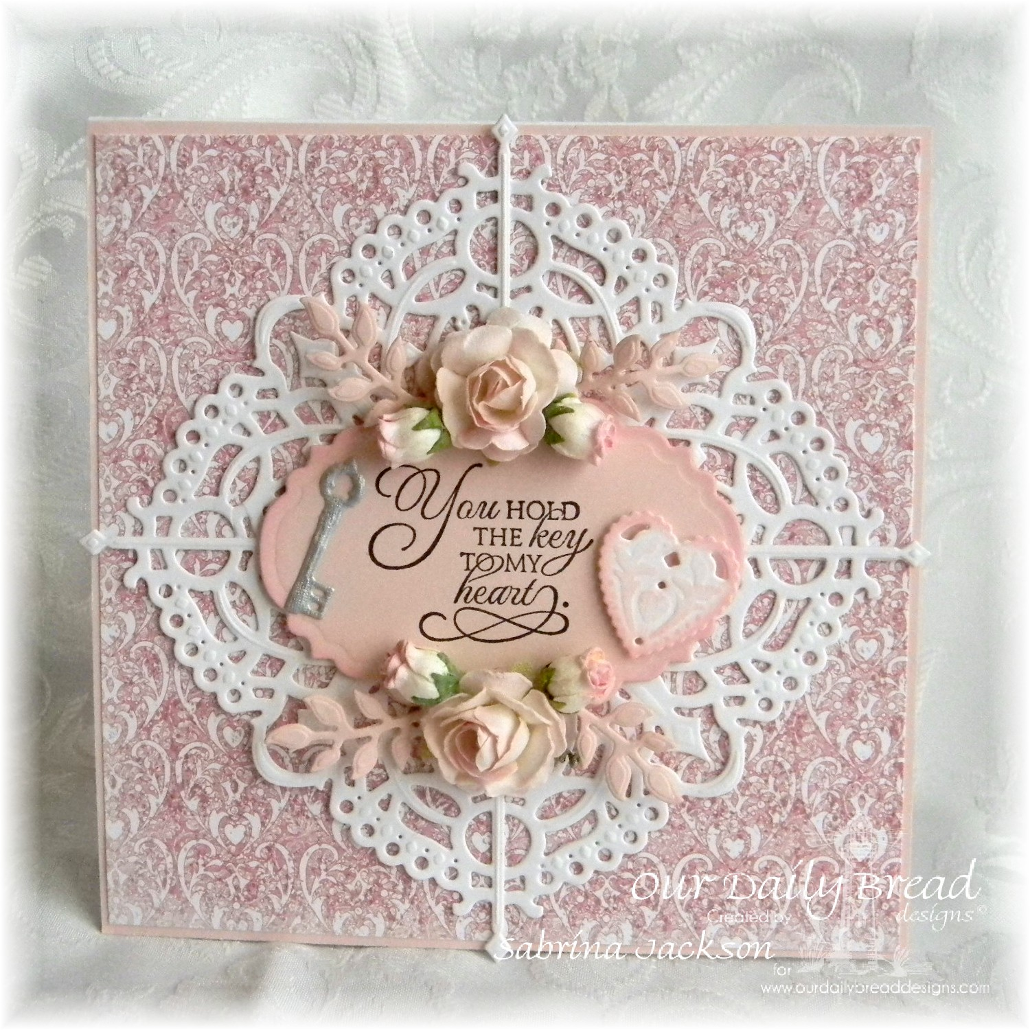 Stamps - Our Daily Bread Designs Key to Heaven, ODBD Heart and Soul Paper Collection, ODBD Custom Vintage Labels Die, ODBD Custom Angel Wings Die, ODBD Custom Decorative Corners Die, ODBD Custom Ornate Hearts Die, ODBD Custom Fancy Foliage Die