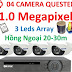 Bộ 4 Camera AHD Questek QTX-2121AHD 1.0Mpx