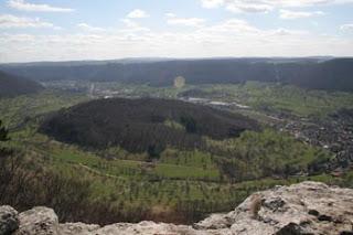 Aussicht auf die Schwäbische Alb vom Breitenstein