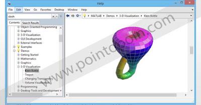 Demo 3D Visualization grafik Klein Bottle