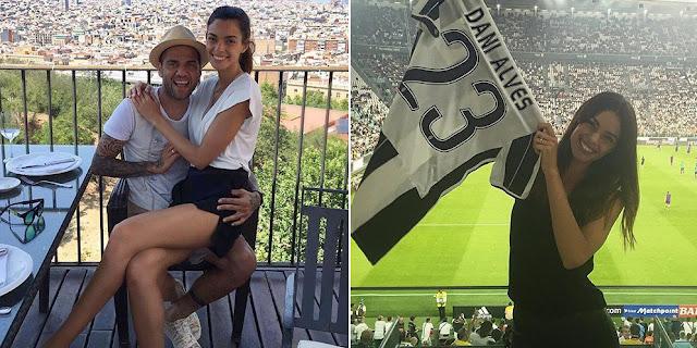 Wanita Seksi Pendamping Dani Alves di Juventus Stadium