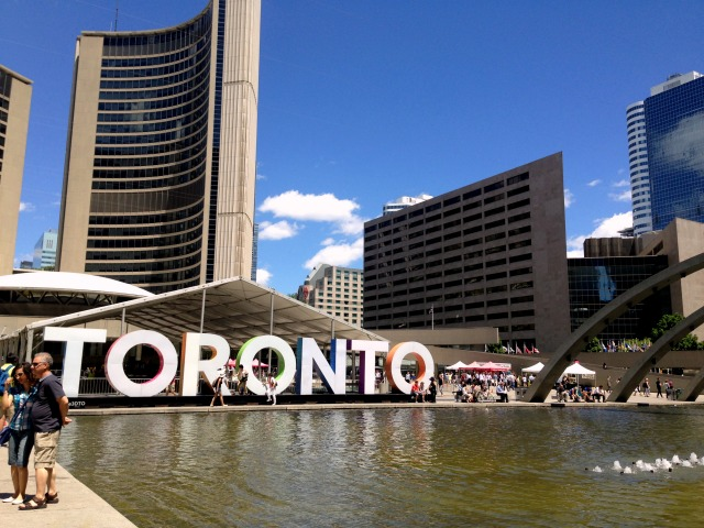 Toronto letters in city