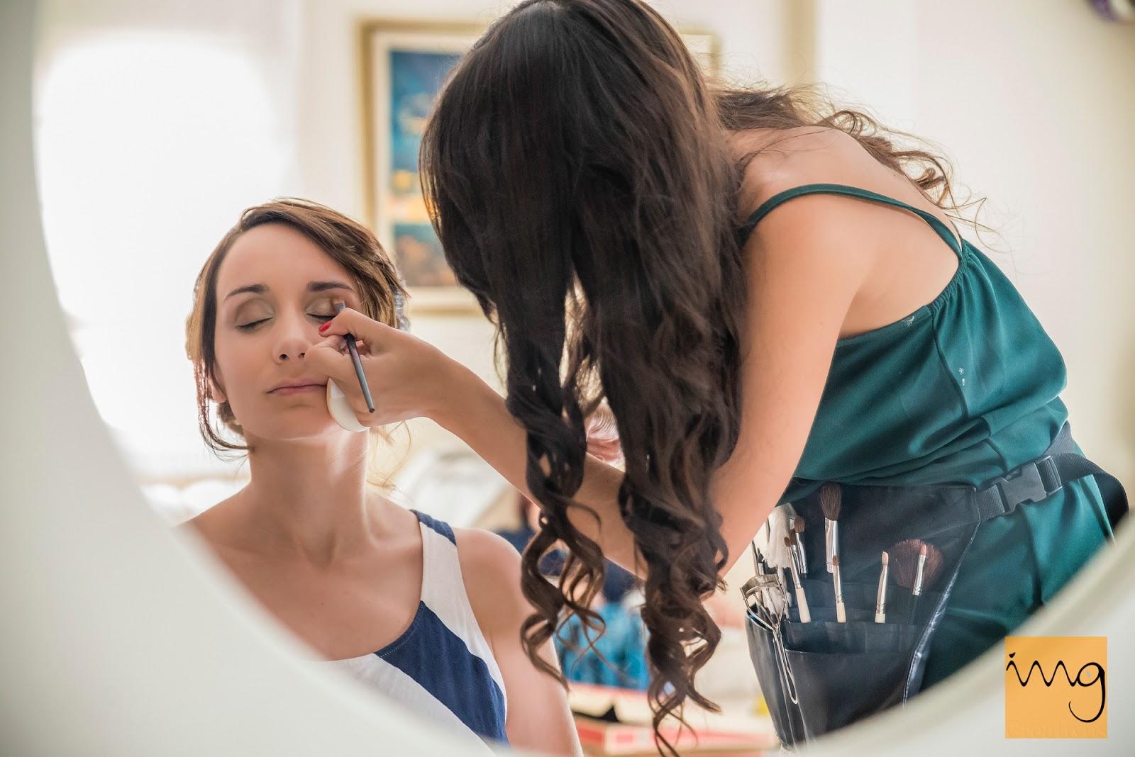 fotografía del maquillaje de boda