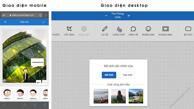 Công cụ chỉnh sửa ảnh online cho điện thoại và máy tính