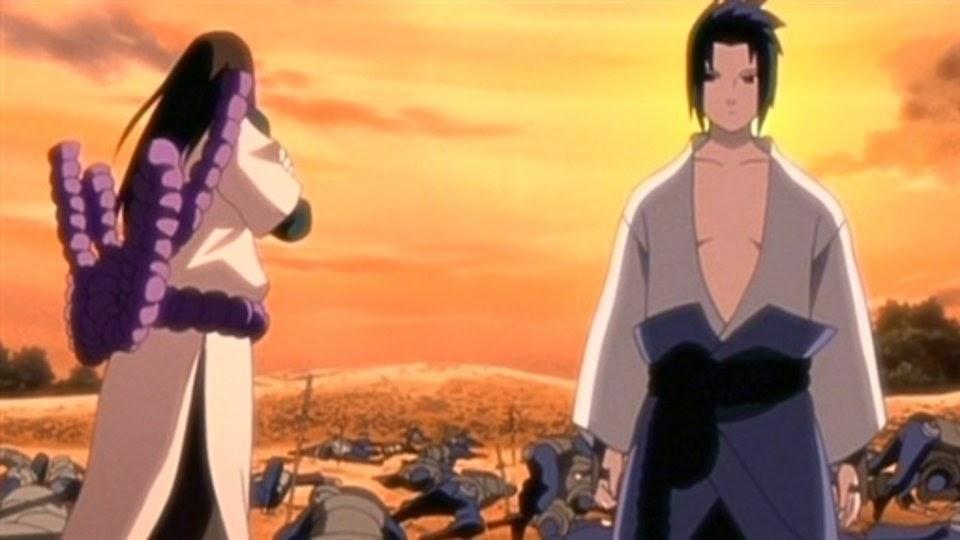 Orochimaru y Sasuke