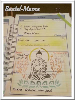 Schablone/Stencil, Buddha
