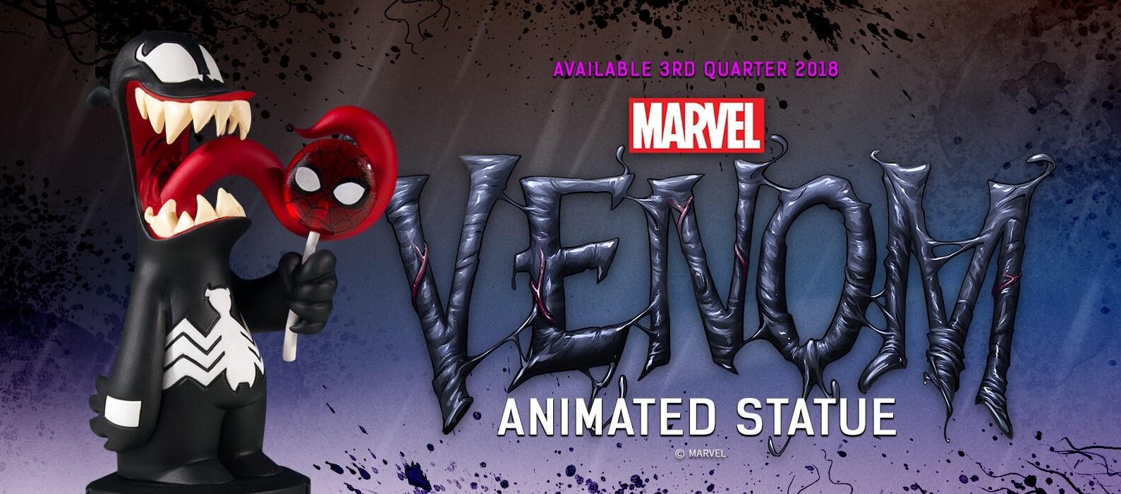 The Blot Says Venom Animated Marvel Mini Statue By