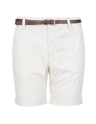 Marks and Spencer Pure Cotton Chino Shorts With Belt