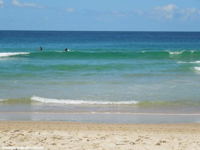 waves crashing at bondi beach australia